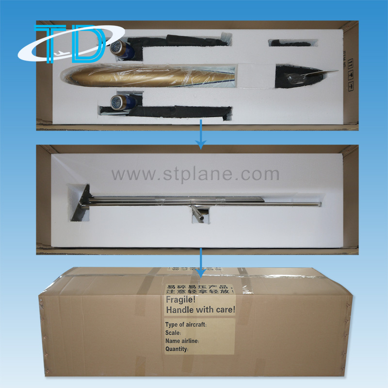 Carton box with foam inner for the model over 80cm